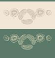 pieces of fruit sketch vector image