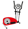 red elliptical cross trainer vector image