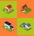 residential building for city and village poster vector image vector image