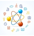 Science Concept and Outline Colorful Icons Set vector image vector image