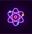 science neon label vector image