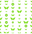 Seamless pattern with butterflies and circles vector image