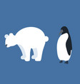 set flat antarctic animals silhouettes polar vector image vector image