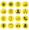 set of 16 human resources icons includes bank vector image vector image