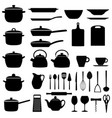 set of kitchen utensils vector image vector image