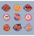 Set Stickers of Food vector image