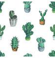 sketch hand drawn colorful cactus vector image vector image