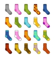 Socks Set with Different Color Patterns vector image