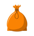 textile full bag cloth sack with rope vector image vector image
