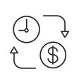 time is money linear icon vector image