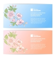 Two sakura banners vector image
