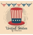 united states of america hat icon vector image vector image