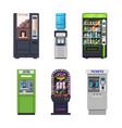 vending machines food snacks or drinks dispensers vector image