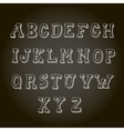 Vintage hand drawn decorative alphabet on vector image