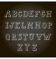 vintage hand drawn decorative alphabet vector image vector image
