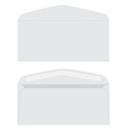 White envelope set vector image vector image