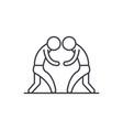 wrestling line icon concept wrestling vector image vector image