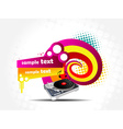 Colorful music background vector image