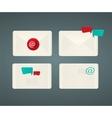 Set of paper Email envelopes vector image