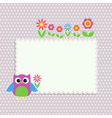 Frame with cute owl vector image