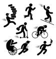 speed people vector image