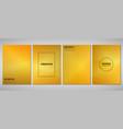 abstract golden gradient brochure of modern vector image vector image