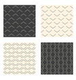 abstract linear seamless patterns set vector image vector image
