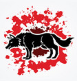 angry wolf standing vector image vector image