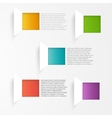 background squares Set web design vector image vector image