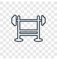 bench press concept linear icon isolated on vector image