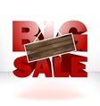 Big sale with wood background for copy space vector image