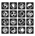 Black Ecology icons - Set for Web Applications vector image vector image