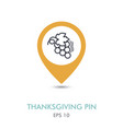 bunch of grapes mapping pin icon harvest vector image vector image