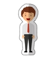 businessman avatar line icon vector image