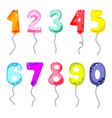 cartoon balloon numbers for birthday kids party vector image vector image