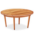 cartoon wood table vector image
