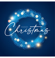 christmas wreath frosty holiday decoration vector image