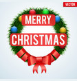 christmas wreath greetings vector image