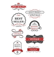 Collection of vintage wine labels vector image