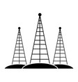 communications antennas isolated vector image vector image