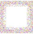 confetti border vector image vector image