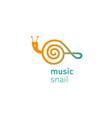 creative development logo musical shail vector image vector image