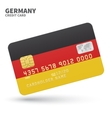 Credit card with Germany flag background for bank