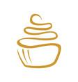 cup cake line art symbol logo design vector image