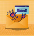 cyber security with envelope vector image vector image