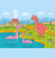 dinosaur in nature vector image
