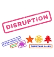 Disruption Rubber Stamp vector image vector image