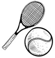 Doodle tennis vector | Price: 1 Credit (USD $1)