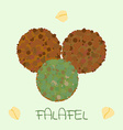 falafel arabic food vector image