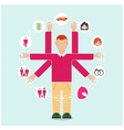 Family flat style people vector image vector image